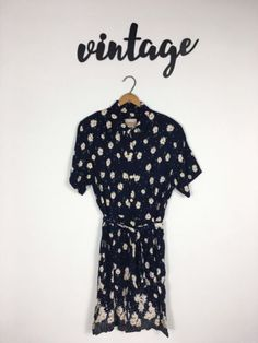 Vintage-Studio-Wear-Women-039-s-Romper-Playsuit-Daisies-Button-Down-Super-Cute