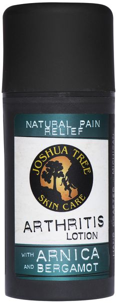 Organic Arthritis Pain Relief Arthritis Lotion soothes aching joints with a potent combination of arnica and bergamot, herbs that have been used for centuries to relieve common joint and muscle pain.
