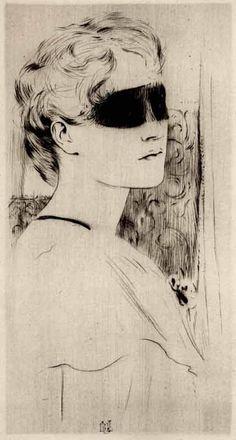 Tus ojos no siempre te dicen la verdad, tu piel segurmante si. (image Un masque , Fernand Khnopff)Un masque (1899)#inspiración Fernand Khnopff