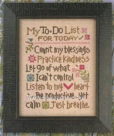 Buy My To Do List Chartpack online at sewandso.co.uk