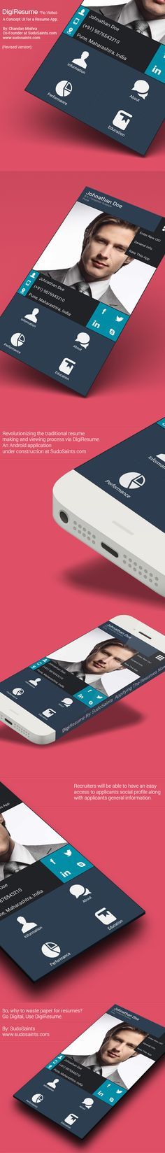 DigiResume - Revised Concept by Chandan Mishra, via Behance
