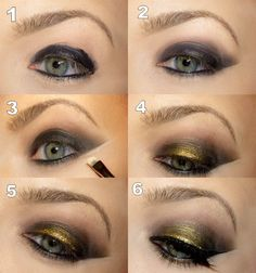Step By Step Makeup Application | Step by step tutorial: Steampunk smoky eyes