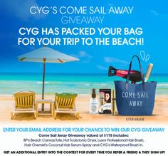 Cover Your Gray: Come Sail Away Giveaway! {us} (6/30/17) via... IFTTT reddit giveaways freebies contests