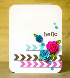 love the simple design of this card of Jennifer McQuire's - the trick is will mine look as good!