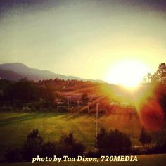 """""""The soul never thinks without a picture."""" - Aristotle ~ Sun setting over the mountains in Colorado Springs. Photo by Taa Dixon, 720MEDIA https://www.facebook.com/720MEDIA For more Colorado Springs pics, visit our Springs Tourism page on Facebook https://www.facebook.com/SpringsTourism"""
