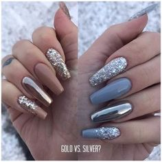 "744 Me gusta, 23 comentarios - Sophie Karlsson (@nailsophiek) en Instagram: ""Guld eller silver?"""