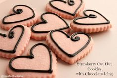Think chocolate covered strawberries in cookie form on these beauties. Sugar cookies just got kicked up a notch with their pretty design and fun flavor.