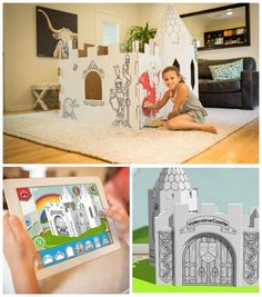 Amazing! Design your own cardboard playhouse for kids using this app from Pop-Up Play. They'll ship you the final result, ready for decorating and imagination