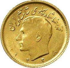 Iran 1 / 2 Pahlavi SH 1338 = 1959. KM 1161. freshly minted  Dealer Teutoburger Münzauktion GmbH  Auction Starting Price: 110.00EUR