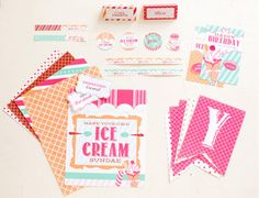 Free Downloadable Templates for Ice Cream Shoppe Party