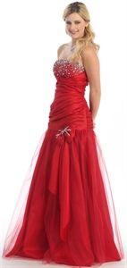 Red Mermaid Prom Dress, Beaded Prom Dresses 2011, Dresses For Evening $142.00