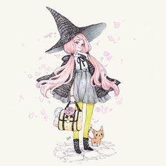 """Selina The Last Witch La joven Selina, quiere descubir cual es su lugar y si es tan cierto que """"nadie esta sólo en el mundo"""". Su viaje la llevara a descubir quien es ella y que significa ser realmente una bruja. #31witches #witch #bruja #inktober #inktober2016 #drawing #draw #illustration #last #lastwitch #kitty #cat #pinkhair #rose"""