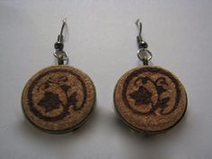 Wine cork earrings -- if you have the right corks.