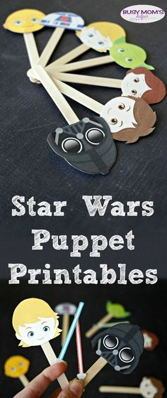 FREE Star Wars Puppet Printables | Homeschool Giveaways