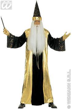 Kostüm Zauberer, Verkleidung Für Herren Zu Halloween, Fasching, Karneval,  Mit Zaubererhut: