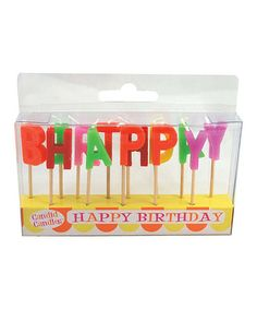 Another great find on #zulily! 'Happy Birthday' Candle Set by Party Partners #zulilyfinds