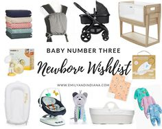 Newborn Wishlist for Baby Number Three | Emily and Indiana. Essential items for a newborn baby. Luxury items for a newborn baby. Baby products from the UK