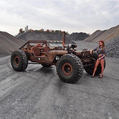Some kind of rock-crawler rat-rod Jeep Wrangler! Not for a fancy ride downtown, but this definitively guarantees LOTS of fun! Rat Rod Trucks, Jeep Rat Rod, Lifted Trucks, Cool Trucks, Big Trucks, Diesel Rat Rod, Dodge Trucks, Semi Trucks, Patrol Y61