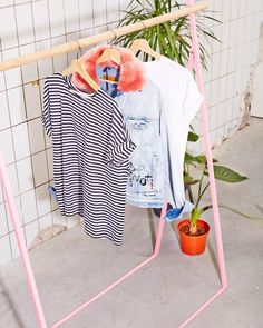 We re willing to bet you know someone who needs a popsicle pink clothing  rack 7a28b19fd