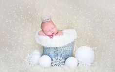 Newborn Baby Child Photography Prop Digital Backdrop for Photographers -Christmas Holiday LET IT SNOW