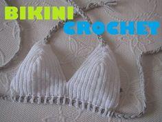 Bikini de crochet/ganchillo (top) - YouTube