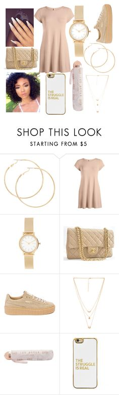 """Untitled #30"" by jasminevaden ❤ liked on Polyvore featuring Skagen, Chanel, Puma, Mimi & Lu, Ted Baker and BaubleBar"