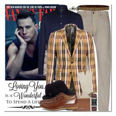 """Man Crush: Channing Tatum"" by coraline-marie ❤ liked on Polyvore featuring Giorgio Armani, Louis Vuitton, Yves Saint Laurent, Pantherella, Salvatore Ferragamo, Caravelle by Bulova and Oliver Spencer"