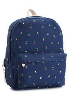 Sweet Floral Backpack - OASAP.com
