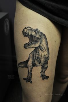 Ba ck (black dot art) #dotwork #tattoo #t-rex
