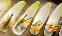 Endive with Smoked Salmon and Dill
