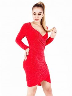 Clothing from Inox Clothing UK. Glitter Wrap Dress 91eba956e