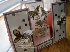 Step Card with Stampin' Up! Butterflies