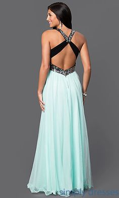Shop long empire waist dresses and backless prom dresses at Simply Dresses…