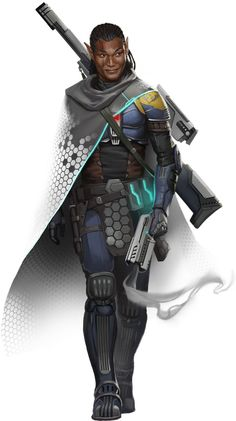 Half-Elf Sniper - Starfinder RPG - Hugh Pindur