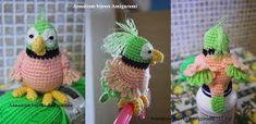 """Ho realizzato questo pappagallo e scritto il patter per un SAL (Stitch A Long) del forum """"L'arcobaleno di gomitoli"""". Le iscritte hanno segui..."""