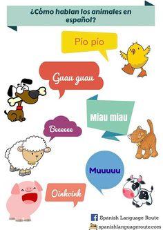 ¿Cómo hablan los animales en español?