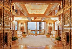 Trump's triplex is a marble-and-onyx-covered ode to Versailles that he calls…