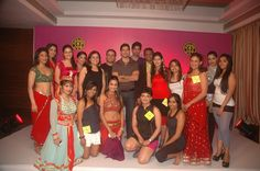 Group photograph of the golds gym crew who performed on stage. Year 2011 At Gold's Gym Bandra.