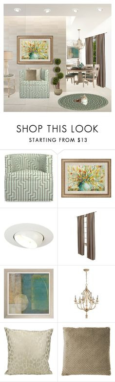 """Modern Traditional Interior"" by victorianheaven ❤ liked on Polyvore featuring interior, interiors, interior design, home, home decor, interior decorating, Williams-Sonoma, Luminaire, Home Decorators Collection and Cyan Design"