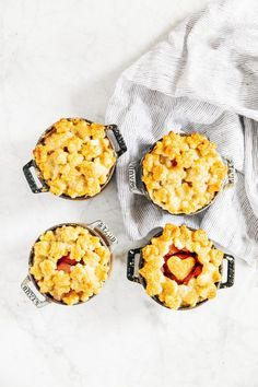 rhubarb mini pot pie