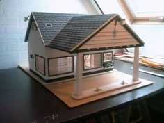 Zwischendurch mal was nicht ferngesteuertes :-) Eine Tankstelle aus den 60ern fast komplett aus Holz (Balsa und Kiefernleisten) Winterprojekt passend für LGB...