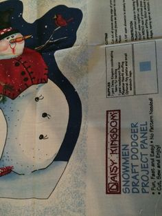 Vintage cut stuff and sew SNOWMEN DOORSTOP set by aPEACEofCLOTHING