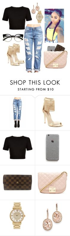 """Untitled #125"" by shinasha on Polyvore featuring Via Spiga, Ted Baker, Louis Vuitton, Forever 21, Michael Kors and Kevin Jewelers"