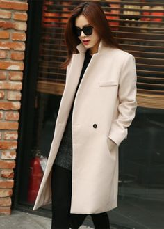 Women Woolen Winter Trench Double Button Coat | Beautiful, Woman ...