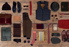 ted baker a/w '12 menswear wood floor mens accessories -cosy knits cabin effect