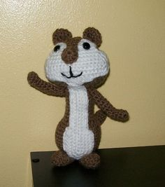RESERVED FOR KATIE Chipmunk  Amigurumi  Hand Crocheted by meddywv, $20.00