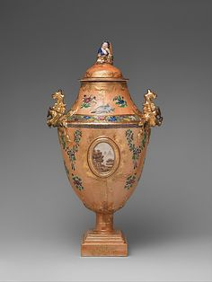 Covered Vase  Date:     1736–95 Geography:     China Culture:     Chinese Medium:     Porcelain