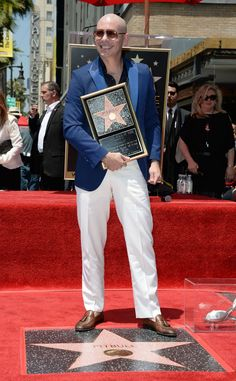 Pitbull receives star on Hollywood walk of fame