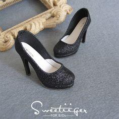 【Tii】1/3 BJD shoes High heeled SD16 black spark outfit super dollfie DD DZ Luts #Sweetiiger