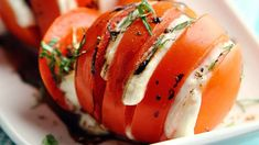 Grillatut mozzarella-tomaatit - Yhteishyvä I Love Food, Good Food, Yummy Food, Vegetarian Recipes, Cooking Recipes, Healthy Recipes, Easy Recipes, Different Recipes, Quick Easy Meals